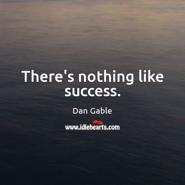 There's nothing like success. Dan Gable Picture Quote
