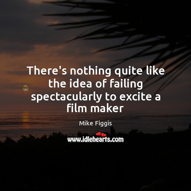 There's nothing quite like the idea of failing spectacularly to excite a film maker Mike Figgis Picture Quote