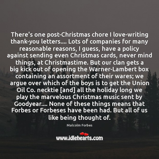 There's one post-Christmas chore I love-writing thank-you letters…. Lots of companies for Image