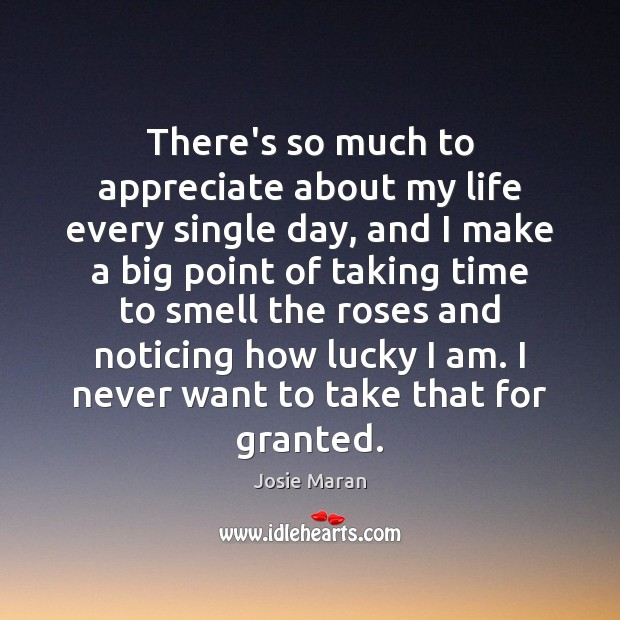 There's so much to appreciate about my life every single day, and Appreciate Quotes Image