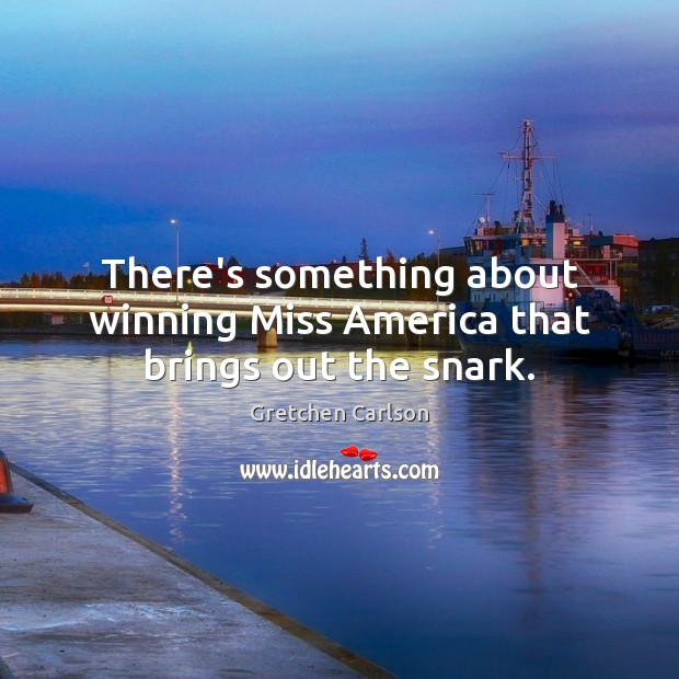 There's something about winning Miss America that brings out the snark. Image