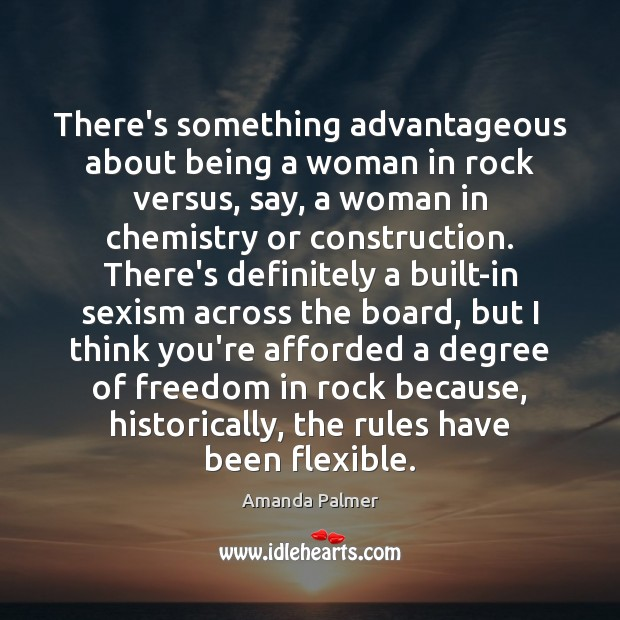 Image, There's something advantageous about being a woman in rock versus, say, a