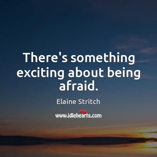 There's something exciting about being afraid. Elaine Stritch Picture Quote