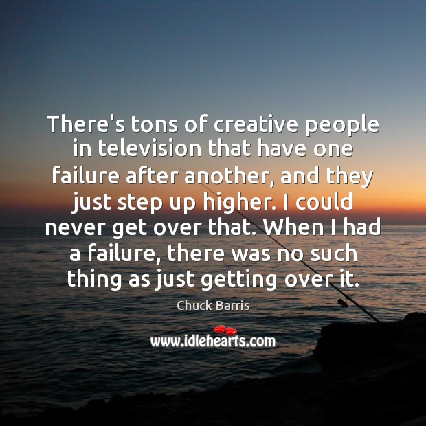 There's tons of creative people in television that have one failure after Image