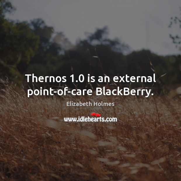 Thernos 1.0 is an external point-of-care BlackBerry. Image