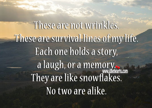 Wrinkles – Survival Lines Of Life, Laugh, Life, Like, Memory, Story, Survival