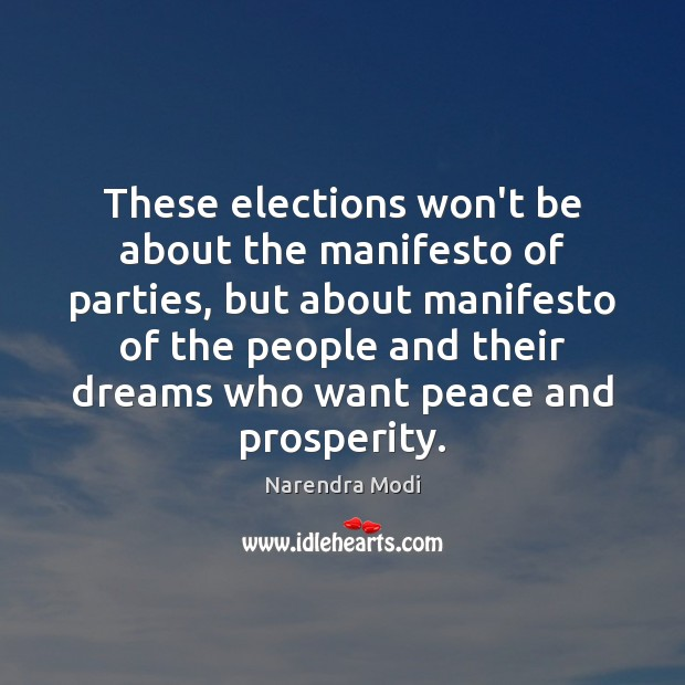 Image, These elections won't be about the manifesto of parties, but about manifesto