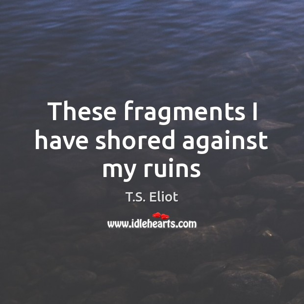 These fragments I have shored against my ruins Image