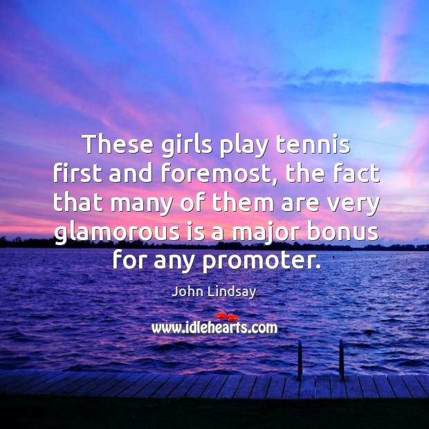 These girls play tennis first and foremost Image