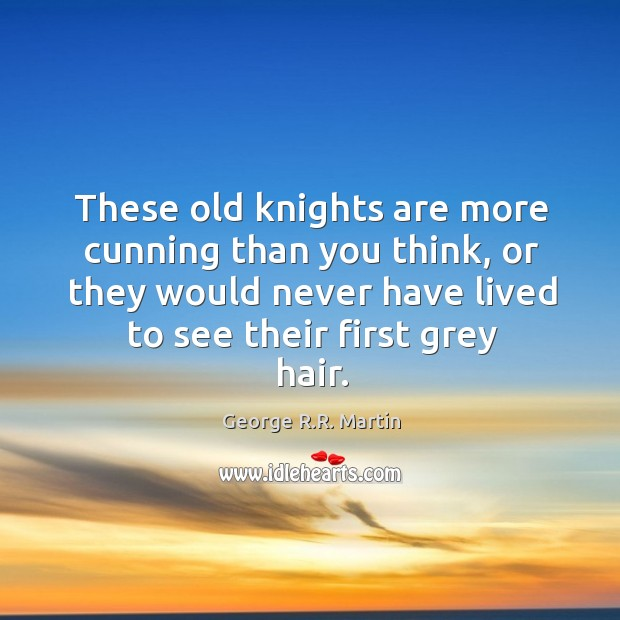 These old knights are more cunning than you think, or they would Image