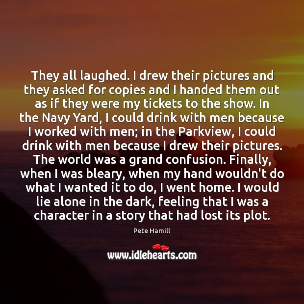 Image, They all laughed. I drew their pictures and they asked for copies