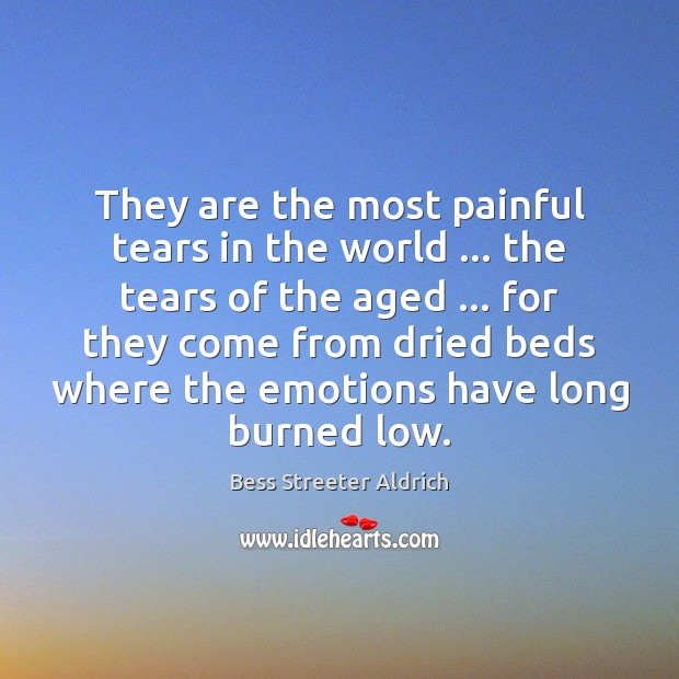 Image, They are the most painful tears in the world … the tears of