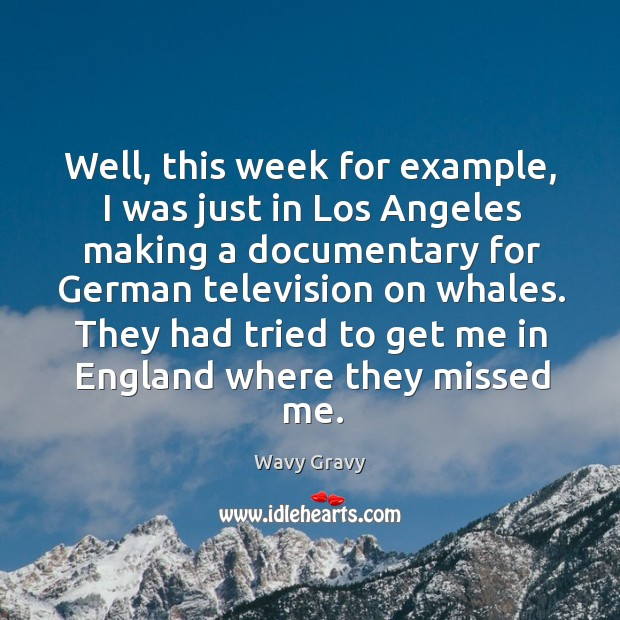 They had tried to get me in england where they missed me. Wavy Gravy Picture Quote