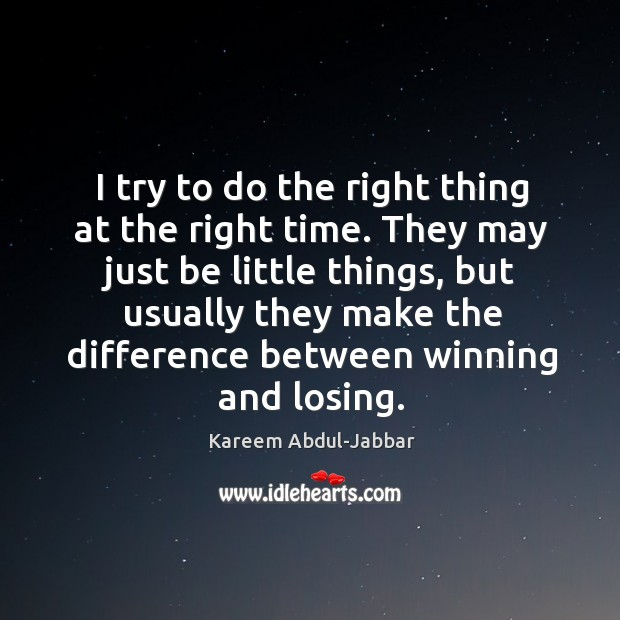 They may just be little things, but usually they make the difference between winning and losing. Image
