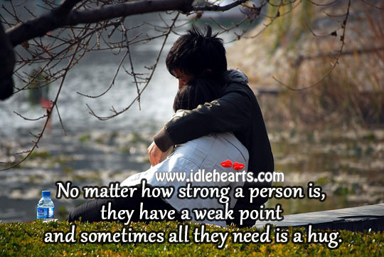 Sometimes all they need is a hug. Image