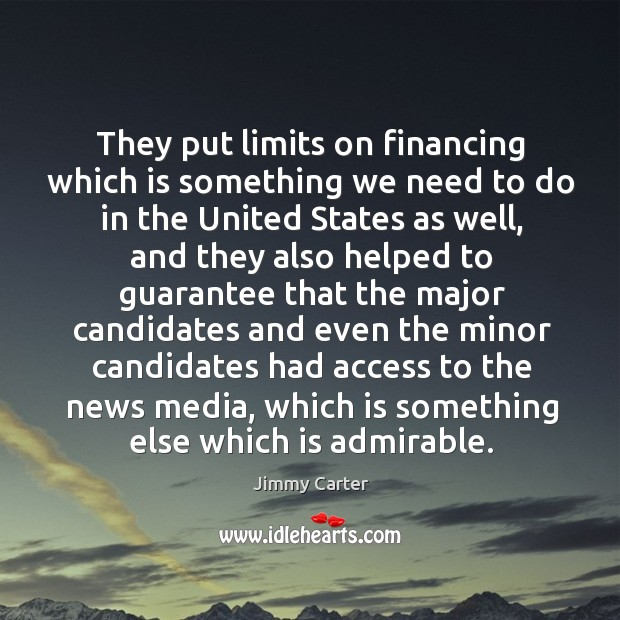 Image, They put limits on financing which is something we need to do in the united states as well