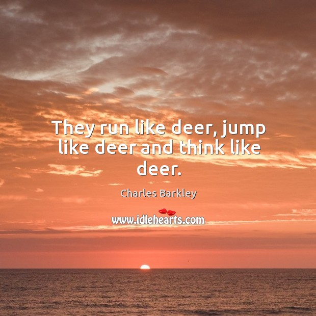 They run like deer, jump like deer and think like deer. Charles Barkley Picture Quote