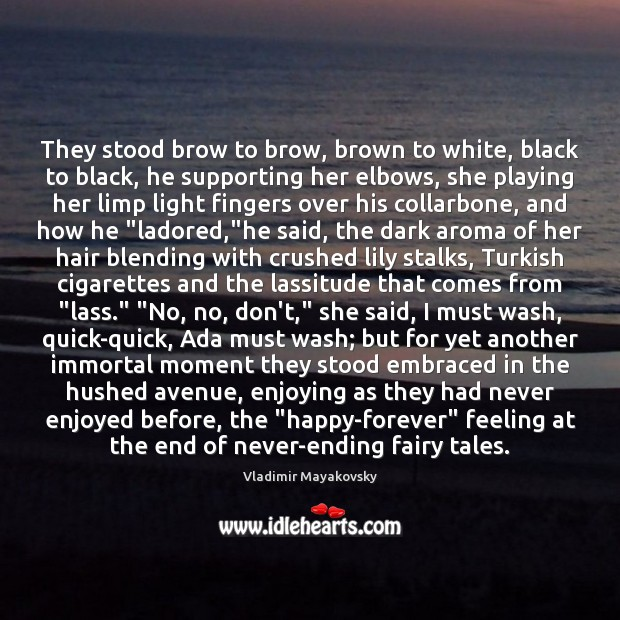 Image, They stood brow to brow, brown to white, black to black, he
