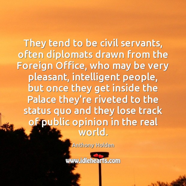 Image, They tend to be civil servants, often diplomats drawn from the Foreign