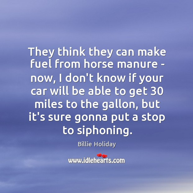 They think they can make fuel from horse manure – now, I Image