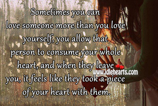 You Can Love Someone More Than You Love Yourself