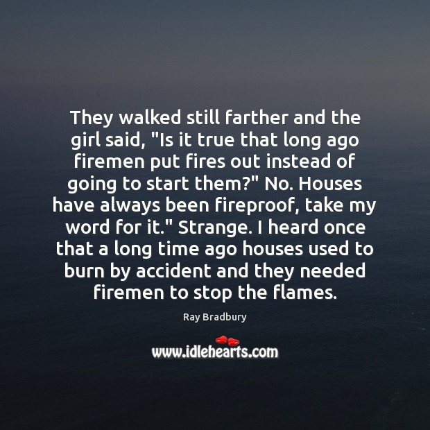"""They walked still farther and the girl said, """"Is it true that Image"""