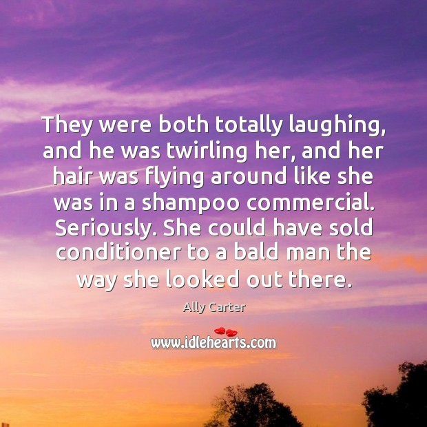 Image, They were both totally laughing, and he was twirling her, and her