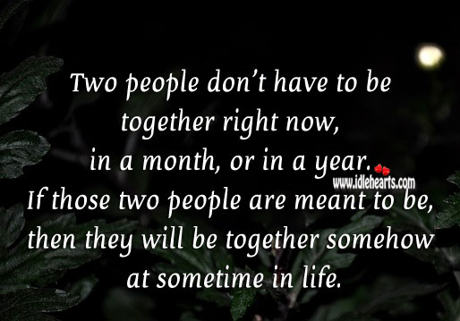 Two people don't have to be together Image