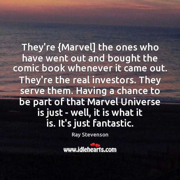 Image, They're {Marvel] the ones who have went out and bought the comic
