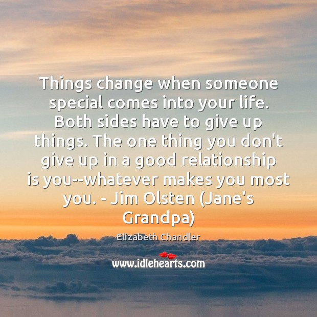 Things change when someone special comes into your life. Both sides have Image