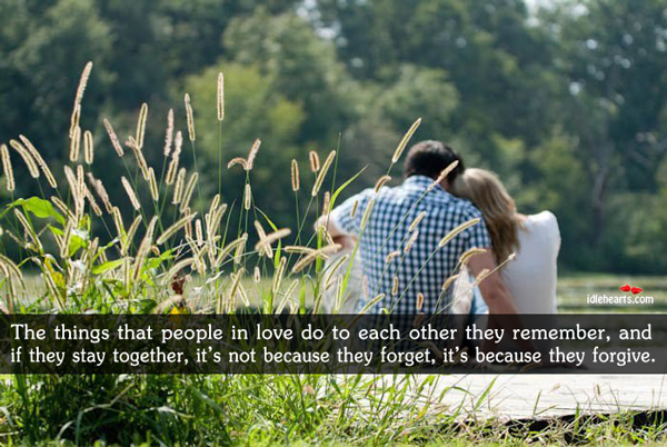 The things that people in love do to each other Image