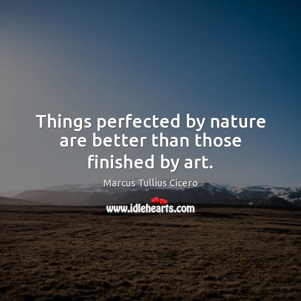 Image, Things perfected by nature are better than those finished by art.