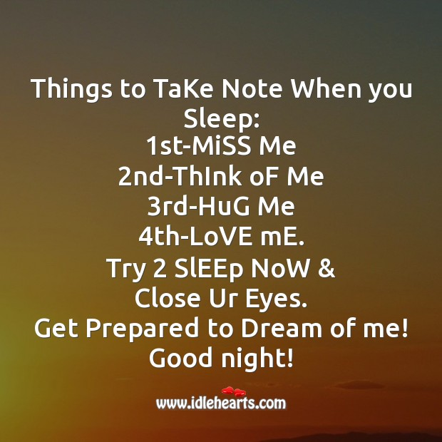 Image, Things to take note when you sleep