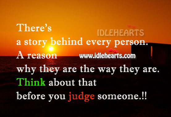 Image, Think before you judge