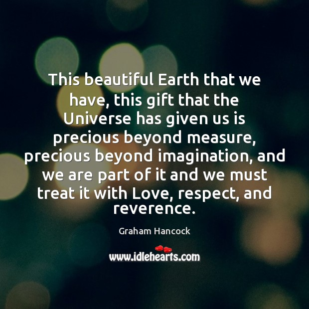 Image, This beautiful Earth that we have, this gift that the Universe has