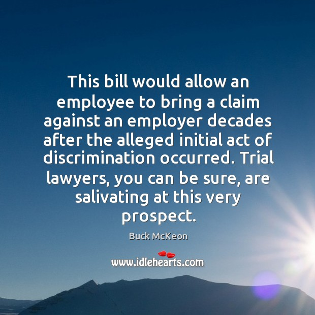Image, This bill would allow an employee to bring a claim against an