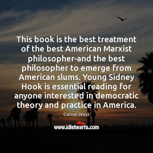 Image, This book is the best treatment of the best American Marxist philosopher-and