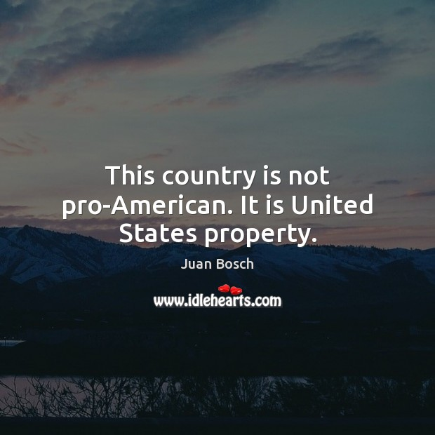 This country is not pro-American. It is United States property. Image