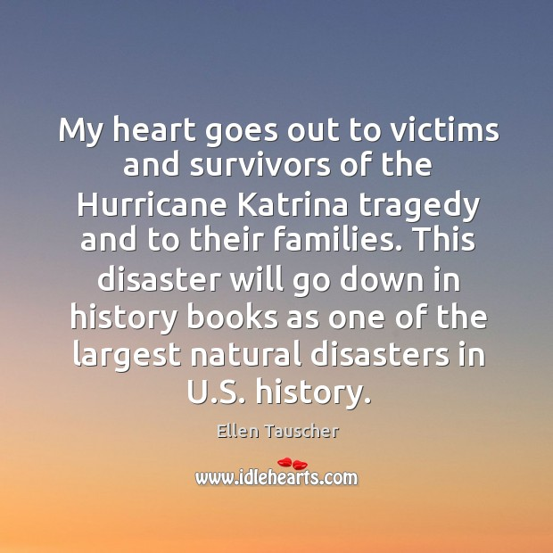 This disaster will go down in history books as one of the largest natural disasters in u.s. History. Image