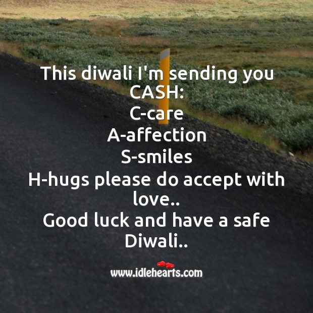 This diwali i'm sending you cash Diwali Messages Image