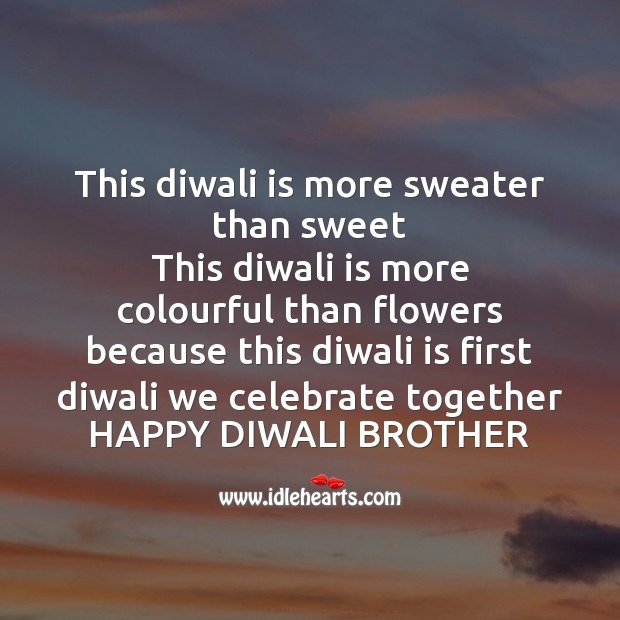 This diwali is more sweater than sweet Diwali Messages Image