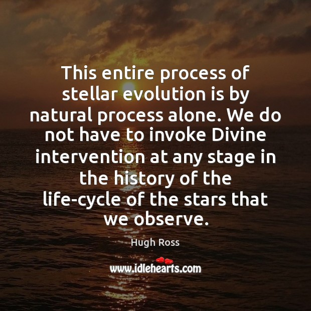 This entire process of stellar evolution is by natural process alone. We Image