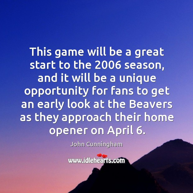 This game will be a great start to the 2006 season Image