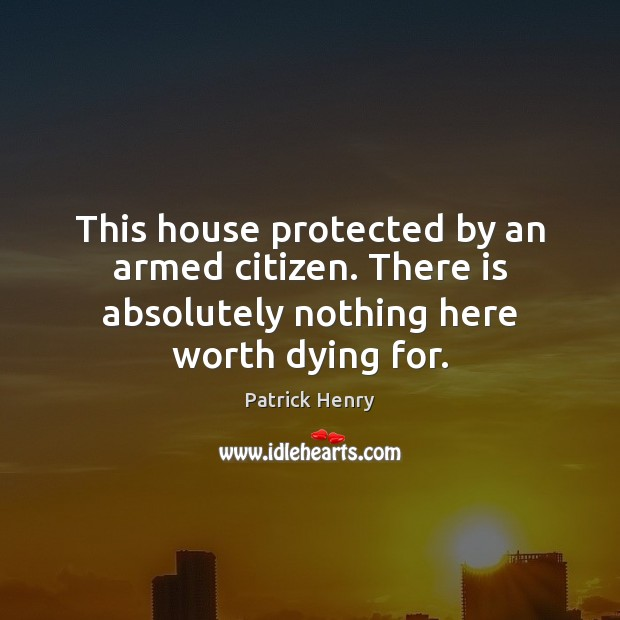 This house protected by an armed citizen. There is absolutely nothing here Image