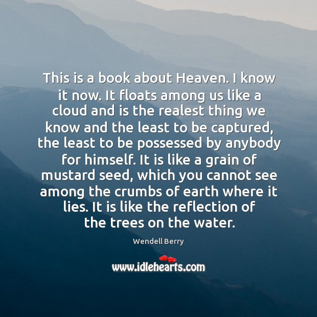This is a book about Heaven. I know it now. It floats Image