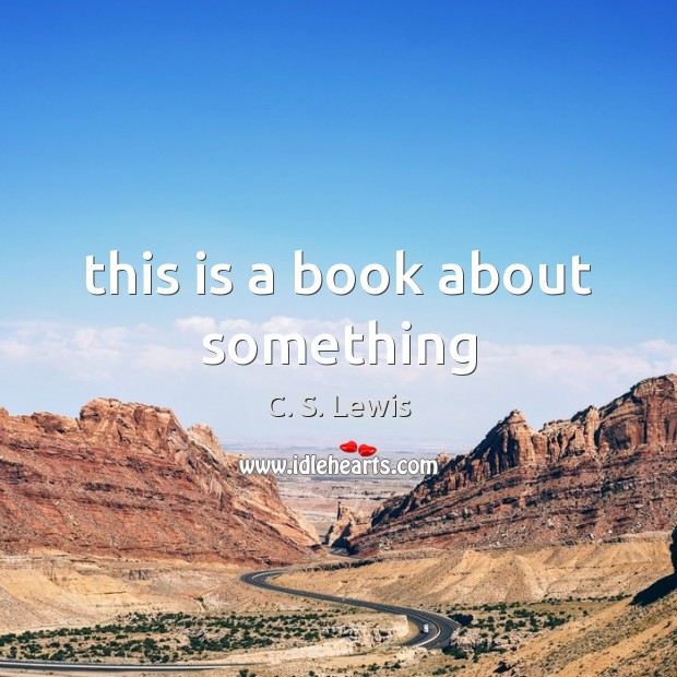 This is a book about something Image