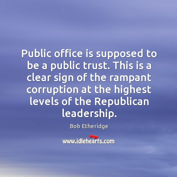 This is a clear sign of the rampant corruption at the highest levels of the republican leadership. Image