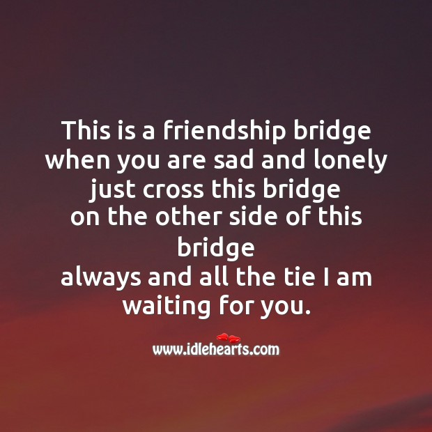 This is a friendship bridge Friendship Day Messages Image