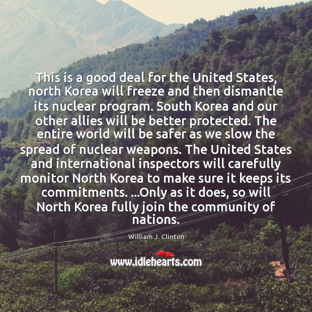 This is a good deal for the United States, north Korea will Image