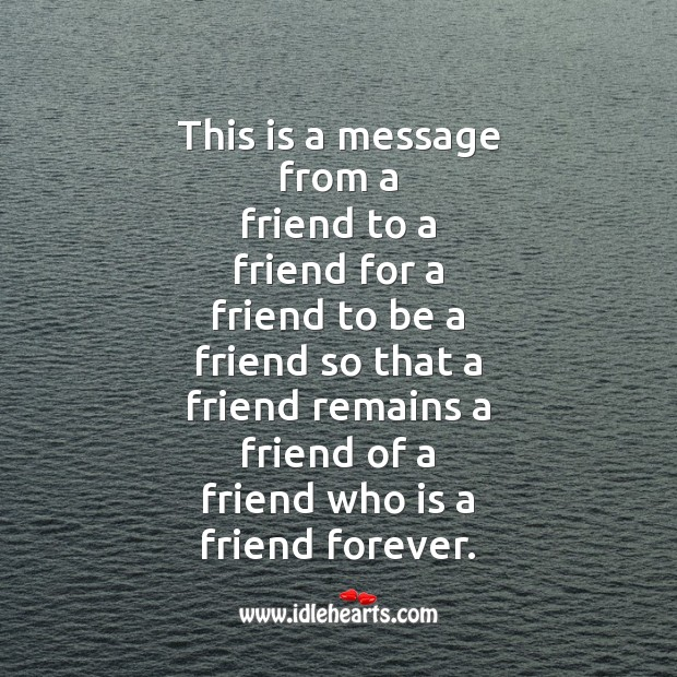 This is a message from a friend to a Friendship Day Messages Image